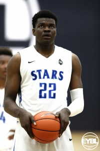 Udoka Azubuike prepares to take a free throw on his championship Georgia Stars team.