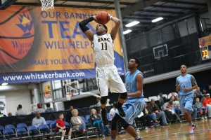 "BABC 2016 6' 3"" PG Bruce Brown elevates for the dunk. -Jon Lopez, Nike"