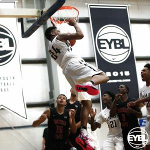 "2016 6' 8"" PF Jalen Dupree throws down the reverse dunk. -Jon Lopez, Nike"