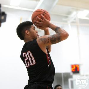 Jarron Cumberland goes up for the corner shot for King James Elite (OH). -Jon Lopez, Nike
