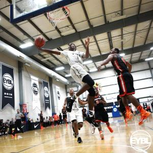 """2018 6' 4"""" SG Javonte Smart goes up for the layup in the lane. -Jon Lopez, Nike"""