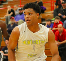 "Star 6' 7"" SF Miles Bridges drives to the hoop for Huntington Prep (WV)."