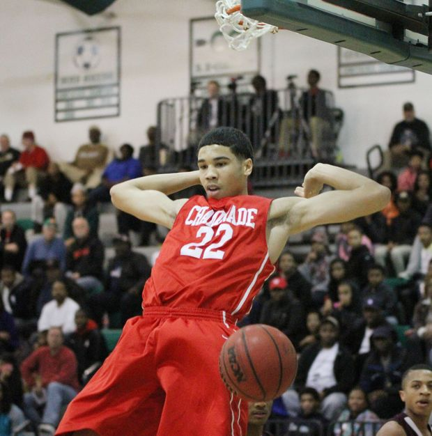 2016 superstar Jayson Tatum will look to lead Chaminade (MO) to a national title this year. (Photo by Ben Loewnau, STLhshoops)