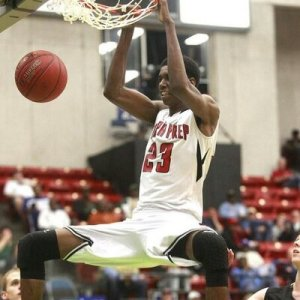 Juwan Durham throws down the dunk for his high school team Tampa Prep (FL).