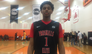 Marques Bolden playing for his AAU team Pro Skills Elite (TX) in the Nike EYBL circuit.