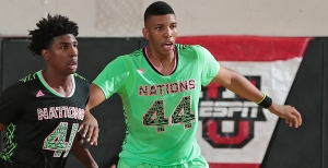 Tony Bradley jockeying for position in the post.