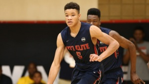 Fast rising 2017 SF Kevin Knox looks to continue to improve his game during his junior year.
