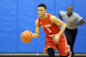 2016 Maryland-commit Anthony Cowan is the catalyst of this tough St. John's (DC) team. Photo: (Baltimore Sun)