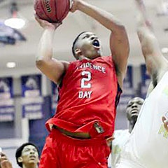 2016 Tennessee-commit Grant Williams goes up for the layup in traffic for Providence Day (NC). -Picture: Scout